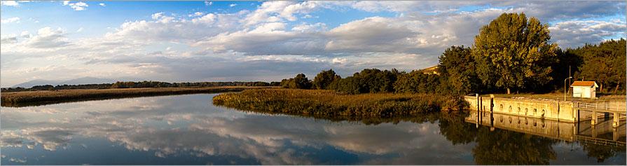 Αξιός ποταμός: πανόραμα από το φράγμα